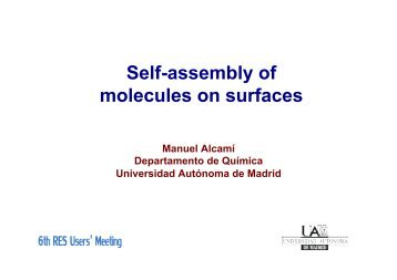 Self-assembly of molecules on surfaces