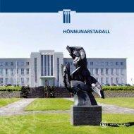 HÖNNUNARSTAÐALL - University of Iceland - Háskóli Íslands