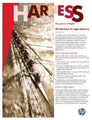 HP Solutions for Agile Delivery - US English - Zift Solutions