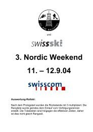 3. Nordic Weekend 11. – 12.9.04 Auswertung ... - Ski Romand (ch)