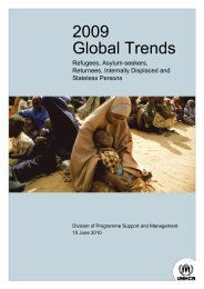 UNHCR's 2009 Global Trends report