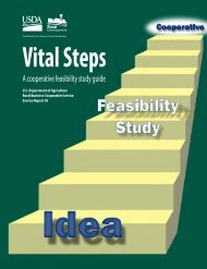 Cooperative Feasibility Study Guide - USDA Rural Development