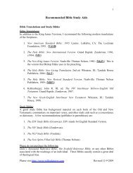 Recommended Bible Study Aids - Wilfred Graves