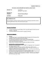 Clinical Outcome Report - The Royal Wolverhampton Hospitals NHS ...