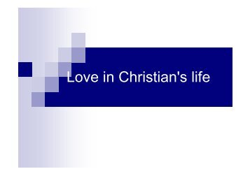 26 September sermon evening: God's Love by brother Tony Zhang