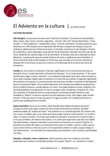 El Adviento en la cultura | por Alvaro Ginel