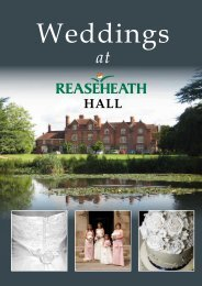 Weddings - Reaseheath College