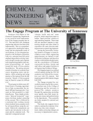 CHEMICAL ENGINEERING NEWS - College of Engineering - The ...