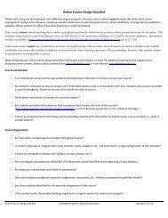 Online Course Design Checklist - Henderson County Public Schools