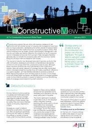 Construction White Paper - JLT