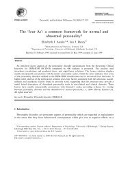 The four A's: a common framework for normal and abnormal