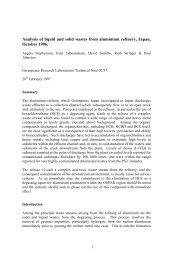Analysis of liquid and solid wastes from aluminium refinery, Japan ...