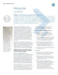 WiMAX FACT SHEET - Motorola Solutions
