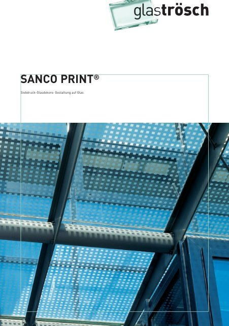 SANCO PRINT® - Ayinger Glaserei