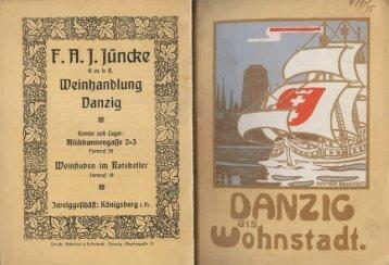 Danzig als Wohnstadt aus dem Jahre 1914