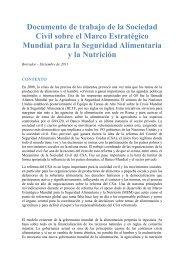 Declaración de la Sociedad Civil sobre el Marco Estratégico ... - CSM