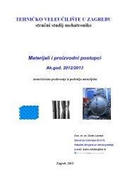 autorizirana predavanja iz područja materijala - FSB - Sveučilište u ...