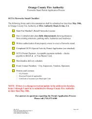 Fireworks Stand Permit Application Instructions - Orange County ...