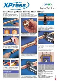 XPress Copper Installation Instructions - Pegler Yorkshire