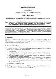 Umsetzungsregelung - Land Brandenburg