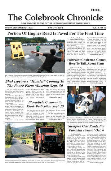 September 21, 2007 - Colebrook Chronicle
