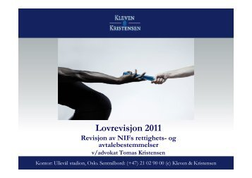 Foreslåtte endringer i NIFs bestemmelser om rettigheter og avtaler ...