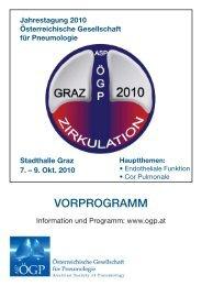 vorprogramm - Österreichische Gesellschaft für Pneumologie (ÖGP)