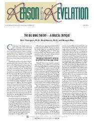 THE BIG BANG THEORY—A BIBLICAL CRITIQUE - Apologetics Press