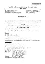 rozhodnutí Milady Horákové.rtf - Drážní úřad
