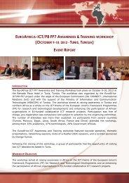 Report - EuroAfrica-ICT