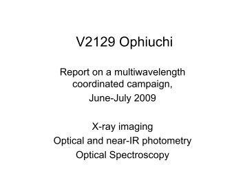 V2129 Ophiuchi