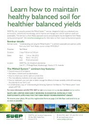 Learn how to maintain healthy balanced soil for healthier ... - Swep