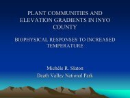 changes in plant communities and ecophysiology along elevation ...