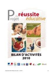 Rapport d'activités PRE 2010 - le Grand Dijon