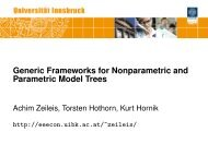 Generic Frameworks for Nonparametric and Parametric Model Trees