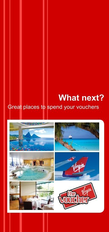 Great places to spend your vouchers - The Virgin Voucher