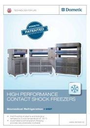 HigH Performance contact SHock freezerS