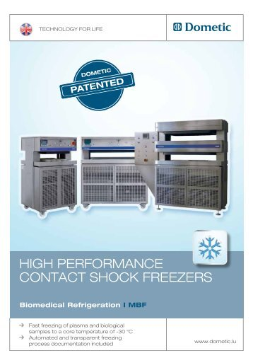 HigH Performance contact SHock freezerS