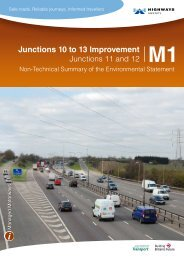 Non-Technical Summary of the Environmental ... - Highways Agency
