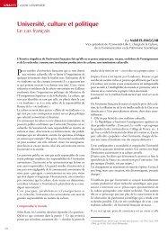 Université, culture et politique – Le cas français - Espace culture de l ...