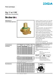Fiche technique Fig. 11 et 11RC - SOCLA