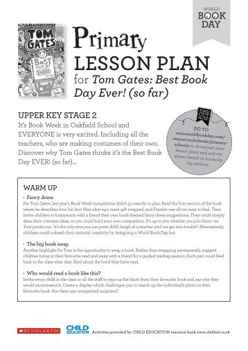 LESSON PLAN - World Book Day