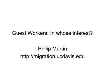 Guest workers - in whose interests? - COMPAS