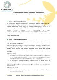 Terms and Conditions: Genopole® Competition for Biotechnology ...