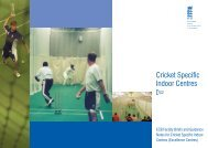 TS2 - Cricket Specific Indoor Centres - Ecb - England and Wales ...