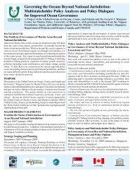 Governing the Oceans Beyond National Jurisdiction - Global Ocean ...