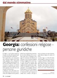 Georgia: confessioni religiose - persone giuridiche - Stimmatini