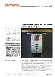 Sliding Door Drives DC-21 Series - Dictator