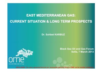 east mediterranean gas: current situation & long ... - Petroleumclub.ro