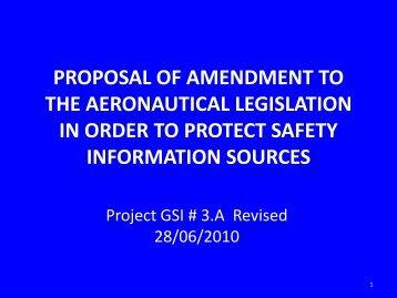 proposal of amendment to the aeronautical legislation in ... - RASG-PA